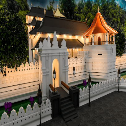 3D Images and Animations - Temple of the Tooth