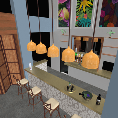 3D Images and Animations - Restaurants and Bars